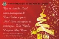Mensagem de Natal e Ano Novo a população de São José do Calçado/ES