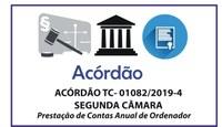 ACÓRDÃO TC- 01082/2019-4 – SEGUNDA CÂMARA