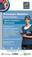 Edital para o Processo Seletivo Simplificado para Contratação para o Censo Demográfico de 2020